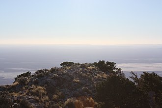 Guadalupe Peak - Image: View West From Top Of Guadalupe Peak Texas