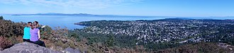 Mount Douglas, Greater Victoria - Looking southeast from Mt. Douglas over the southern tip of the Saanich Peninsula into the Strait of Juan de Fuca.