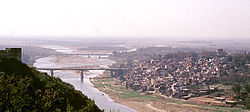 View of the Jammu city and the Tawi River
