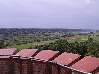 Raudonė Castle - Image: View of Nemunas Valley from Raudonė Castle, Lithuania