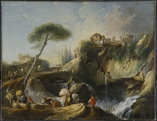 View of Tivoli with the Temple of Vesta