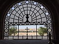 View of the city seen from the window above the altar in the Church of Dominus Flevit, and the dome of the church..JPG