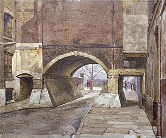 John Crowther - Image: View of the entrance to Lincoln's Inn Fields in Duke Street by John Crowther