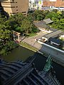 View of torii of Yasaka Shrine and Garden of Kokura Castle from Tenshu of Kokura Castle.jpg