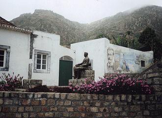 Brava, Cape Verde - A monument to Eugênio Tavares