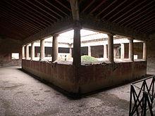 Peristilio della Villa dei Misteri a Pompei