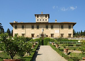 Medici villas - Frontal view of the Villa La Petraia
