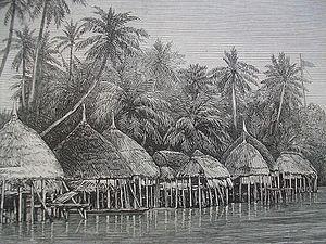 Nancowry Island - Image: Village of Mala