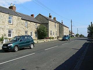 Glanton village in the United Kingdom
