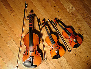 3 violins (1/1 size, 1/8 size, and 1/10 size) ...