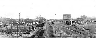 Battle of Virden - Image: Virden.Illinois.c 1900.2