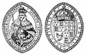 London Company - Image: Virginia Companyof London Seal 1606 1624