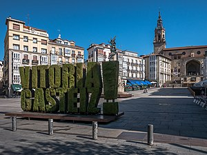 Vitoria-Gasteiz - San Miguel Arcangel Church and the Virgen Blanca Square