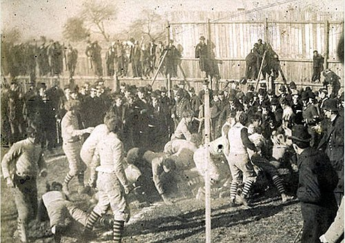 An 1894 football game in Staunton, Virginia between VMI and Virginia Tech Vmi v hokies football game 1894.jpg