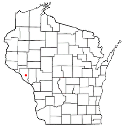 Location of Montana, Wisconsin