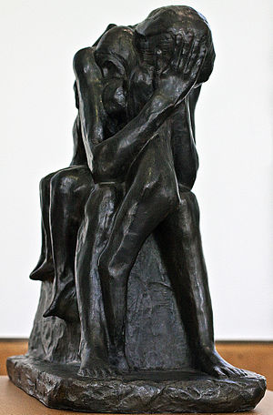 George Minne - Grieving mother protecting her children