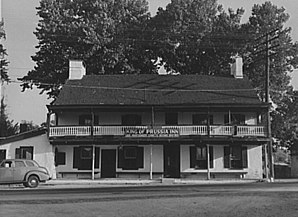 Das King of Prussia Inn in King of Prussia im Jahr 1939.