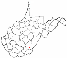 Location of Lewisburg, West Virginia