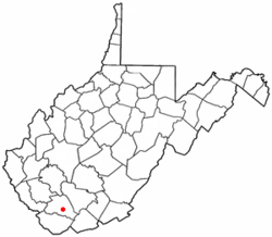 Location of Pineville, West Virginia