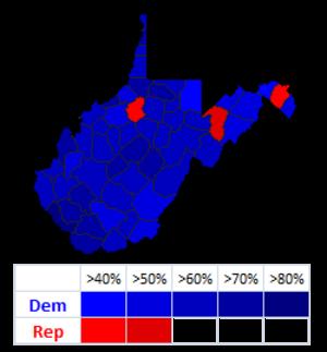 West Virginia gubernatorial election, 2004 - Image: W Vgov 04