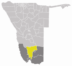 Berseba Constituency - Berseba constituency (yellow) in the ǁKaras Region (dark grey)
