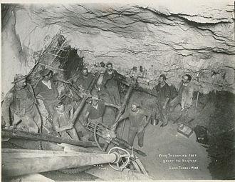 Victorian gold rush - Underground mining at Walhalla, Victoria in 1910