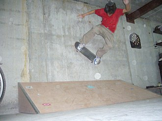 Wallride - A photograph of a skater performing a wallride