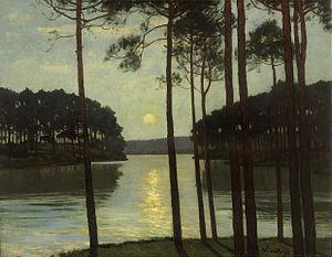 Schlachtensee - Evening Mood at the Schlachtensee by Walter Leistikow (1895)