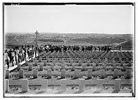 War graves on Mt. Scopus, Jerusalem in distance. LOC matpc.03259.jpg