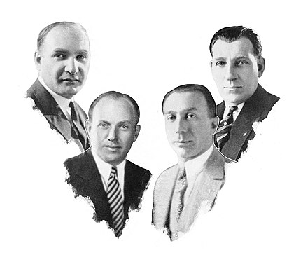 The Warner Brothers: Albert, Jack, Harry and Sam