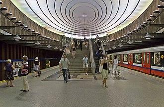 Warsaw Metro - Image: Warsaw 07 13 img 37 Plac Wilsona metro