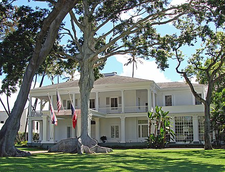 The Governor of Hawaii officially resides at Washington Place. Washington Place Honolulu HI.jpg