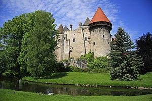 Burg Heidenreichstein - Image: Wasserburg Heidenreichstein Sommer
