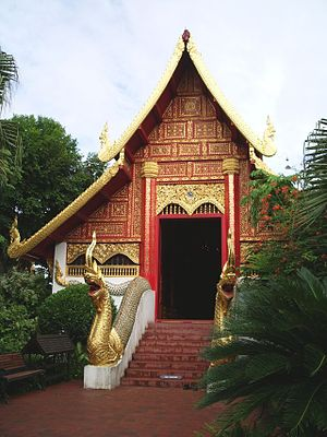 Emerald Buddha - Wat Phra Kaeo in Chiang Rai, where the Emerald Buddha was found