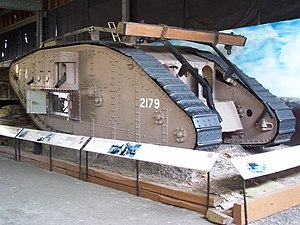 Museum of Lincolnshire Life - The Mark IV tank in the museum
