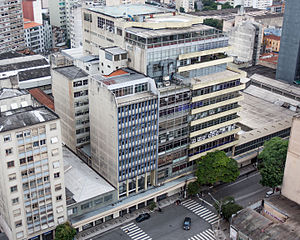 Folha de S.Paulo - Current headquarters of Grupo Folha in São Paulo, where the newspapers that would later become Folha de S.Paulo started being printed in 1950, and to where they moved their newsrooms in 1953.