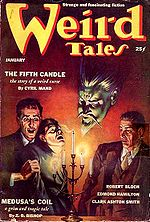 Weird Tales cover image for January 1939