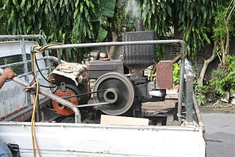 Arc welding - A diesel powered welding generator (the electric generator is on the left) as used in Indonesia.
