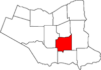 Location of Welland in the Niagara Region