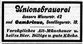 Werbung Unionsbrauerei Schülein & Cie. – Münchener Ratsch-Kathl Nr. 97 – 1904-12-03.png