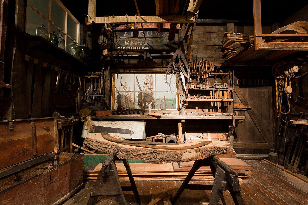 File werkstatt eines schiffszimmerers im altonaer museum for Laboratorio di garage domestico