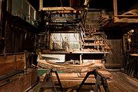 A ship's carpenter's workshop
