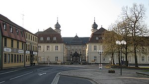 Werneck - View of the palace from the old marketplace of Werneck, Balthasar-Neumann-Platz