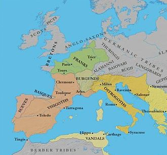 Germans - Germanic Kingdoms in Europe c. 500 AD