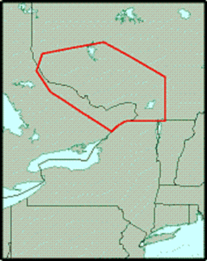 Western Quebec Seismic Zone - Location of the Western Quebec Seismic Zone