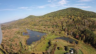 Battle Mountain (Virginia) - The western slope of Battle Mountain, Castleton, Virginia