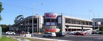 Westfield Kotara - Westfield Kotara viewed from Park Avenue in September 2007
