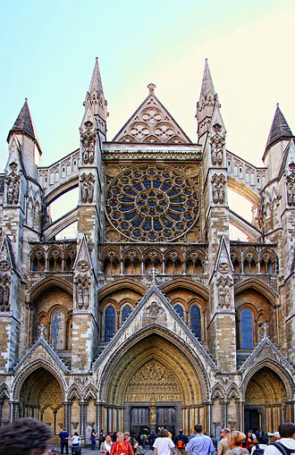 Westminster Abbey - North entrance of Westminster Abbey