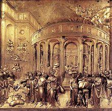 Lorenzo Ghiberti, Storie di Giuseppe, formella della Porta del Paradiso