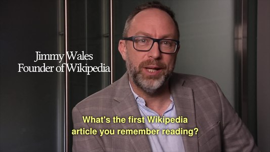 File:What's the first Wikipedia article you remember reading?.webm